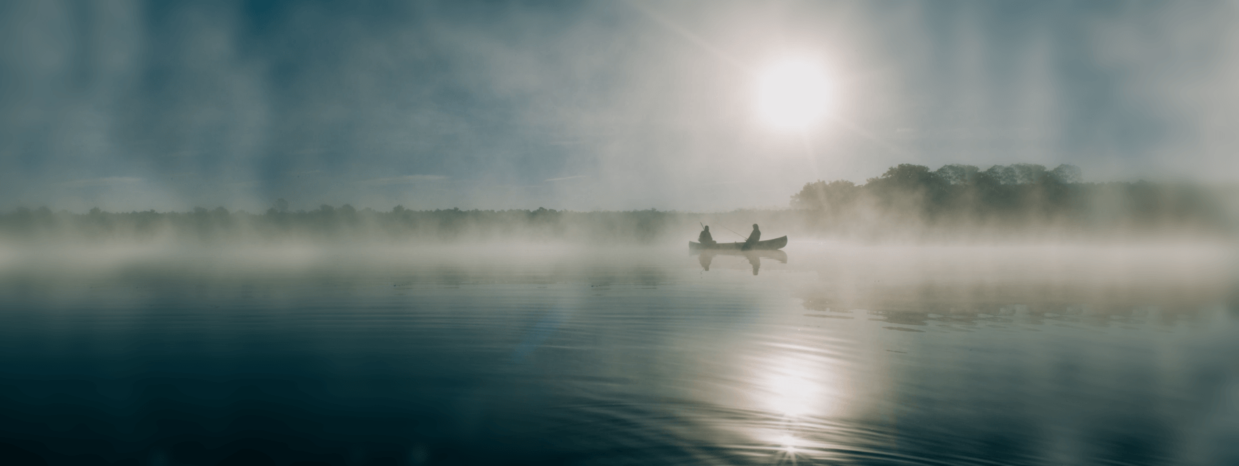 background lake with boat