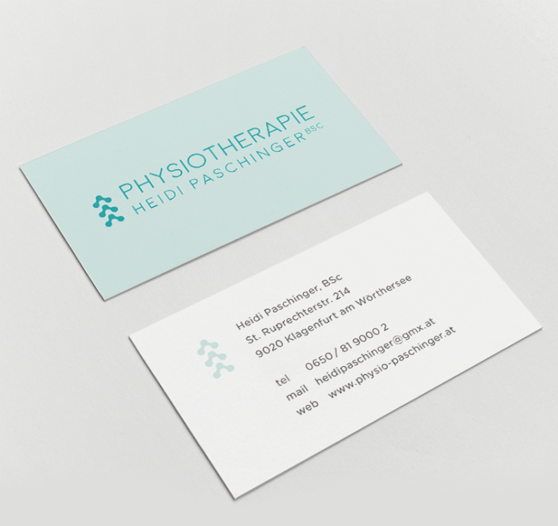 Physiotherapie Heidi Paschinger Business Cards