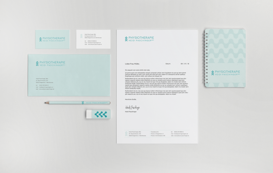 Paschinger Stationery Business cards letter, rubber, note book