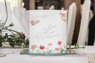 floral wedding candle names and date