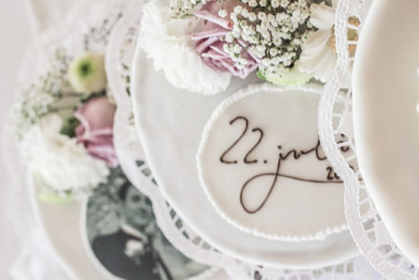 floral wedding cake view