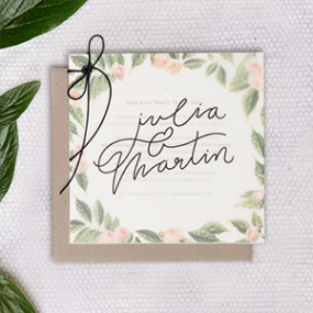 Project Floral Wedding Stationary