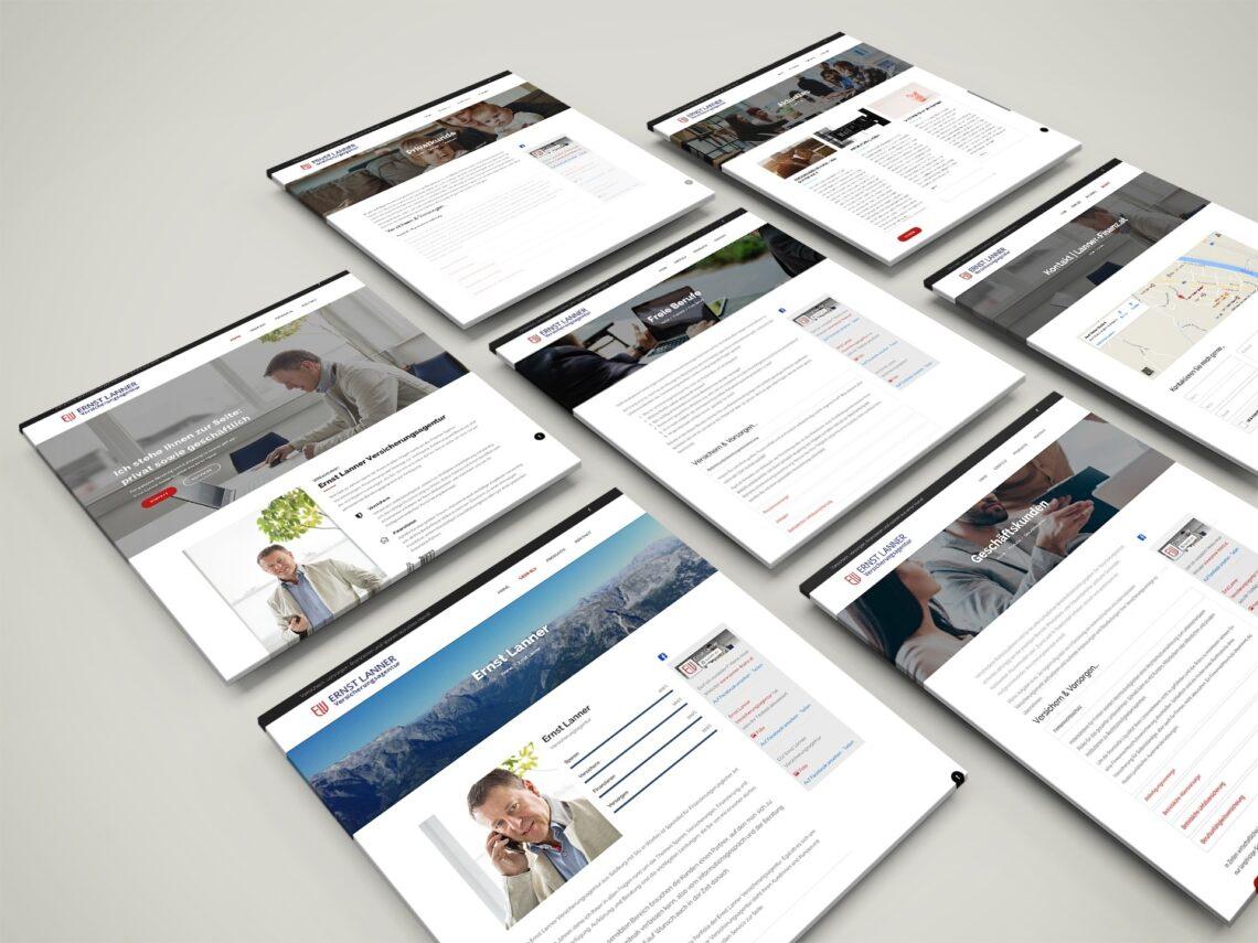 Website Ernst Lanner Versicherungsgentur