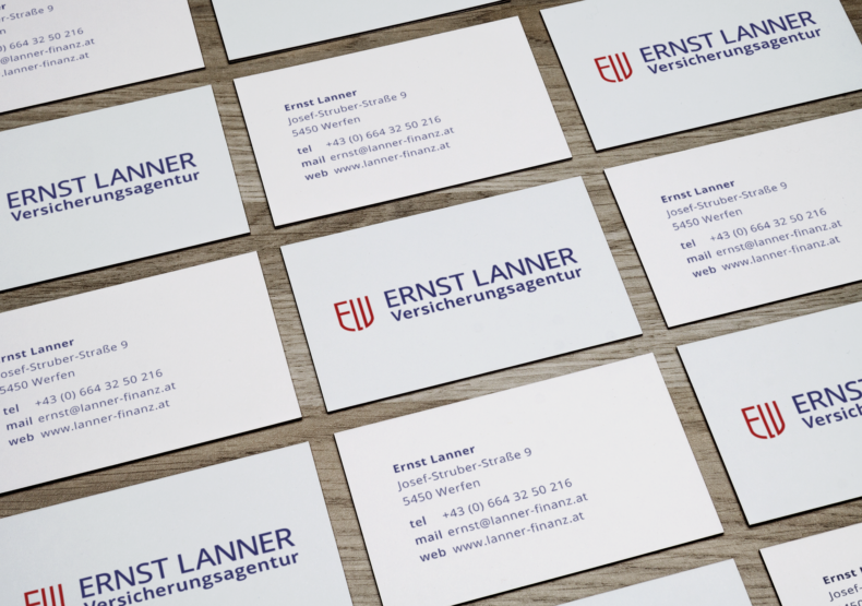 Perspective Business Cards MockUp